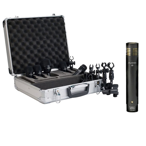 Audix FP5 Fusion Series Drum Microphone Package with Audix F9 Condenser Instrument Microphone