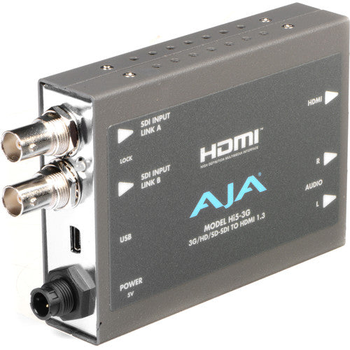 AJA Hi5-3G 3G/Dual Link/HD-SD-SDI to HDMI Video and Audio Converter