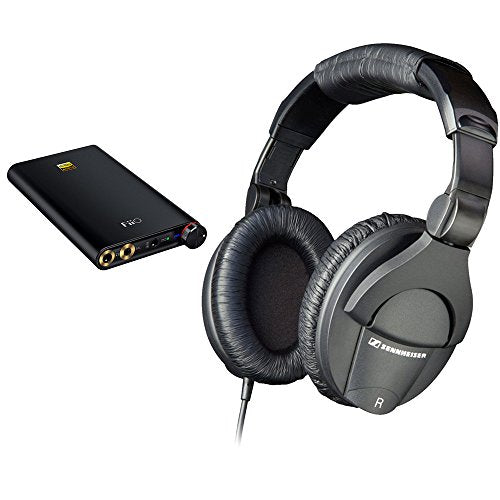 Sennheiser HD 280 Pro Circumaural Closed-Back Monitor Headphones with FiiO Q1 Mark II Portable Headphone Amplifier & DAC