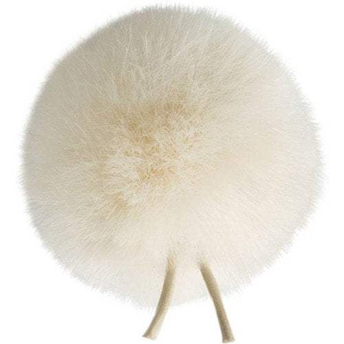 Bubblebee Industries Windbubble Miniature Imitation-Fur Windscreen (Lav Size 1, 28mm, Off-White)