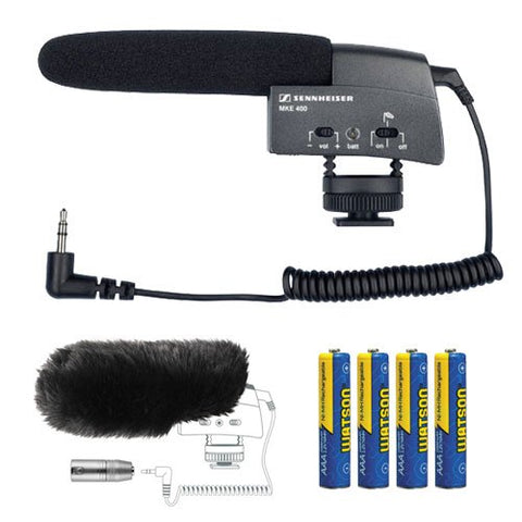 Sennheiser MKE 400 Compact Video Camera Shotgun Microphone Kit