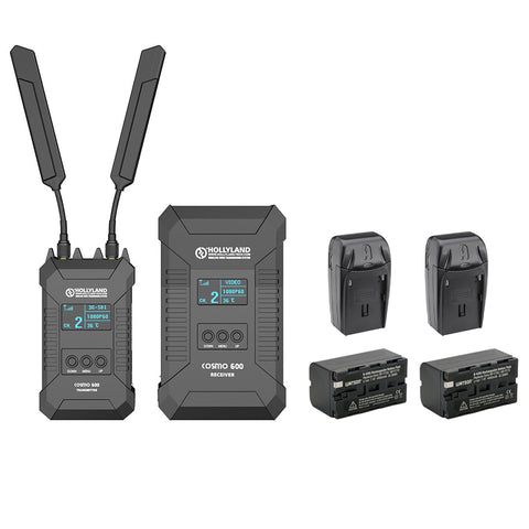 Hollyland COSMO 600 Wireless HDMI/SDI Transmission System (L-Series) with Watson NP-F770 Li-ion Battery Pack & AC/DC Charger Bundle