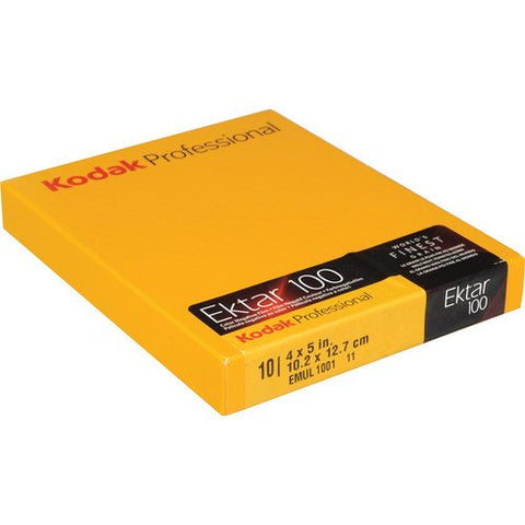 "Kodak 4 x 5"" Ektar 100 Color Negative (Print) Film (10 Sheets) 10 Sheets, Yellow"