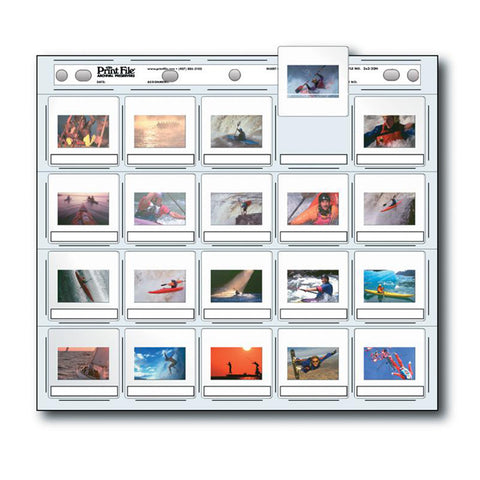 Print File Archival Storage 2x2-20H Slide Pages (Package of 100)