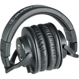 Audio-Technica ATH-M40x Monitor Headphones (Black) with FiiO A3 Portable Headphone Amplifier (Black)