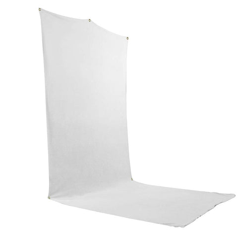 Savage Travel Backdrop Kit - White Floor Extended Backdrop (5 ft x 12 ft) with Stand