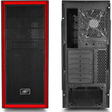 Deepcool Tesseract Mid-Tower Case (Black / Red, Window)