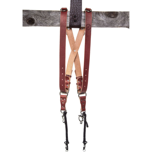 HoldFast Gear Money Maker Two-Camera Harness (English Bridle, Chestnut, Small)