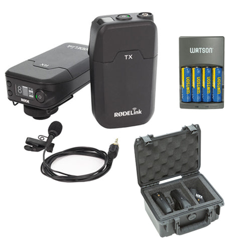 Rode RodeLink Wireless Filmmaker Kit with SKB iSeries RodeLink Case and 4-Hour Rapid Charger