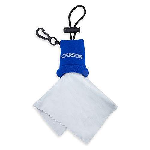 Carson Stuff-It Microfiber Lens Cloth, Blue