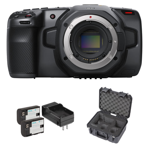 Blackmagic Design Pocket Cinema Camera 6K Bundle with SKB iSeries Waterproof Case & Li-Ion Battery Pack