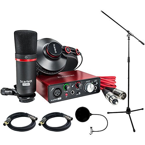 Focusrite Scarlett Solo Studio Pack 2nd Gen & Recording Bundle w/ Pro Tools
