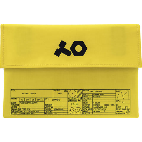 teenage engineering OP-Z PVC Roll Up Bag (Yellow)