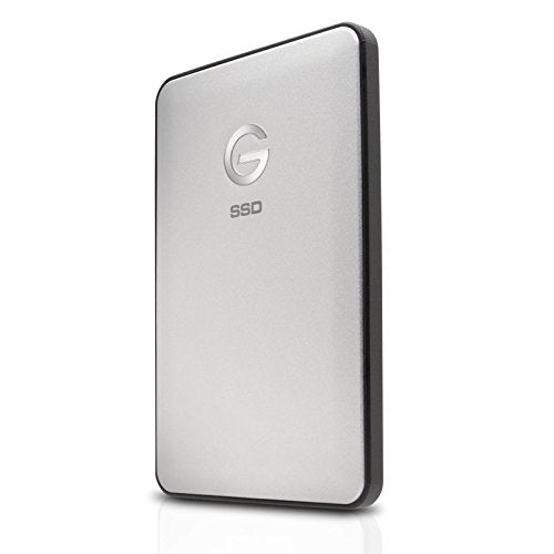 G-Technology 1TB G-DRIVE slim USB 3.1 Type-C External Solid State Drive, Silver