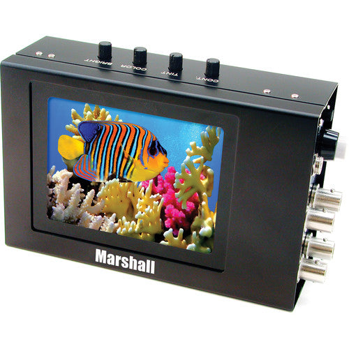 Marshall Electronics V-LCD4PROL Camera Mountable LCD Monitor w/ Metal Housing