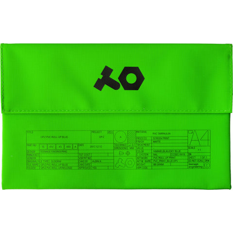 teenage engineering PVC Roll Up Bag (Neon Green)