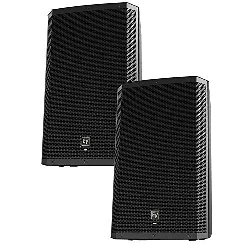 "EV Electro-Voice ZLX-12P Pair of 12"" 2-Way Powered 1000W Speakers"