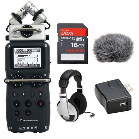 Zoom H5 Handy Recorder Kit w/ Windbuster, Adpater, Headphones & Memory Card