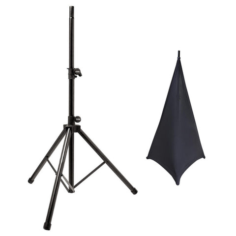 On Stage SS7761B All-Aluminum Tripod Speaker Stand with SSA100 Speaker/Lighting Stand Skirt (Black)