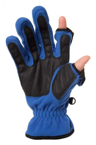 Freehands Ladies Unlined Fleece Gloves Medium Blue