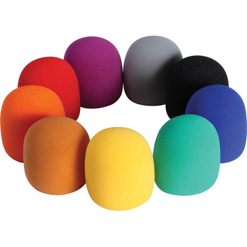 On-Stage 9-Color Foam Windscreen Pack