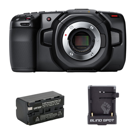 Blackmagic Design Pocket Cinema Camera 4K with NP-F770 Li-Ion Battery Pack & Blind Spot Gear Power Junkie Bundle