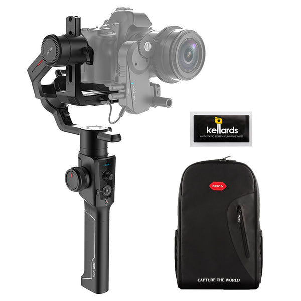 Moza Air 2 3-Axis Handheld Gimbal Stabilizer with Moza Fashion Camera Backpack & Cleaning Wipes (5-Pack)