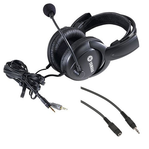 Yamaha CM500 Headset with Boom Microphone and Mini Male to Stereo Mini Female Extension Cable 25'