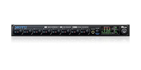 MOTU 8pre 16x12 USB Audio Interface with 8 Mic Inputs and Optical Expansion