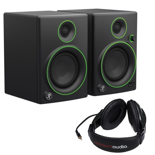 "Mackie CR4- 4"" Woofer Creative Reference Multimedia Monitors (Pair) with Stereo Headphones"