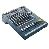 Soundcraft EPM 6 - 6 Mono + 2 Stereo Audio Console with Gator Cases 1515 Mixer Bag, Fastener Straps (10-Pack) & XLR Cable Bundle