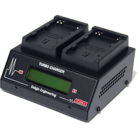 Dolgin Engineering TC200-i Two-Position Simultaneous Battery Charger for Sony BP-U30, BP-U60, BP-U90