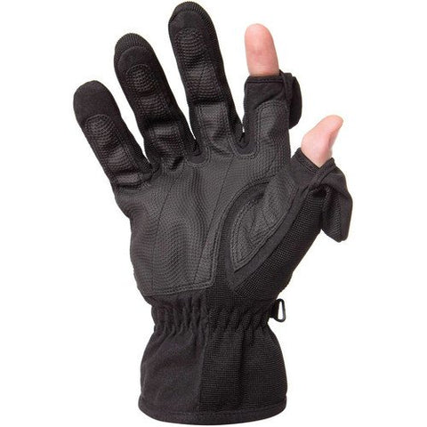 Freehands Men's Stretch Thinsulate Gloves (Large, Black)