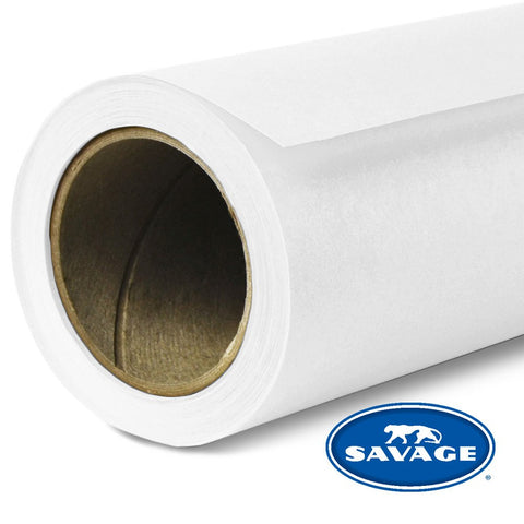 Savage Seamless Background Paper - #1 Super White (53 in x 18 ft)