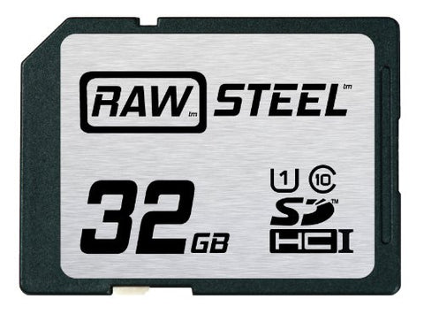 Hoodman RAW Steel SDHC 32GB UHS-1 Secure Digital Card