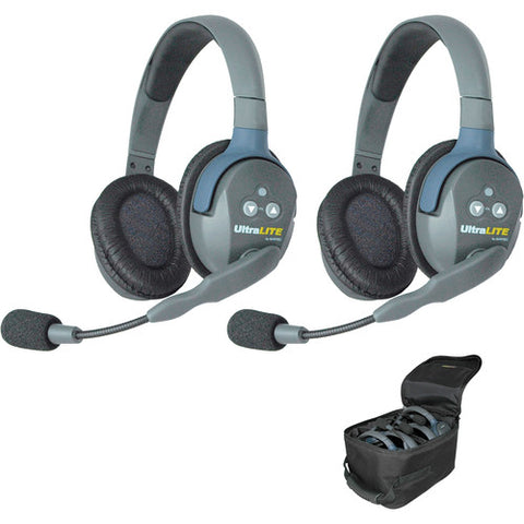UltraLITE 2 person system w/ 2 Double Headsets, batteries & case