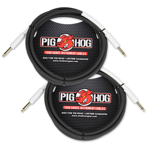Pig Hog PH10 10' Instrument Cable Dual Pack