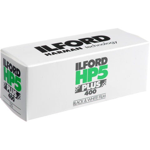 Ilford HP-5 Plus 400 Fast Black and White Professional Film, ISO 400, 120 Size