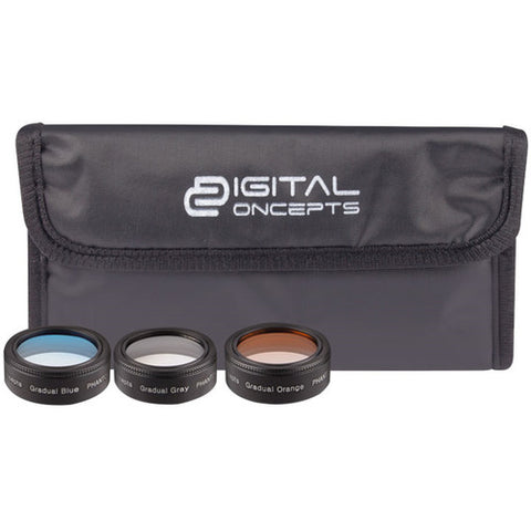 Digital Concepts Graduated Lens Filters for Phantom 4 Pro Quadcopter (3-Pack)
