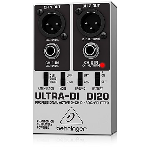 Behringer DI20 Ultra-DI 2 Channel DI-Box Splitter