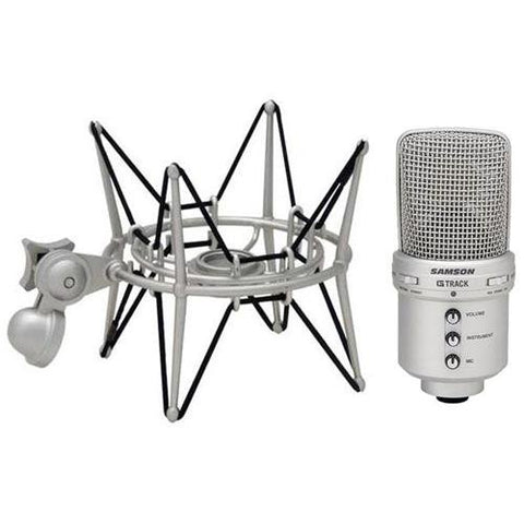 Samson G-Track USB Condenser Microphone With SP04 Shock Mount