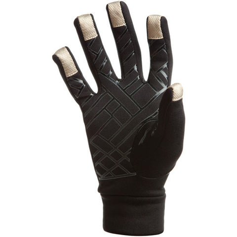 Freehands Power Stretch 5 Finger Liner, Unisex Large Black