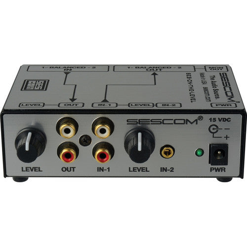 Sescom SES-ON-THE-LEVEL RCA to XLR Audio Level Converter with Level Controls-by-Sescom