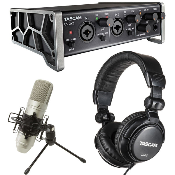 Tascam Trackpack 2x2 Recording Package