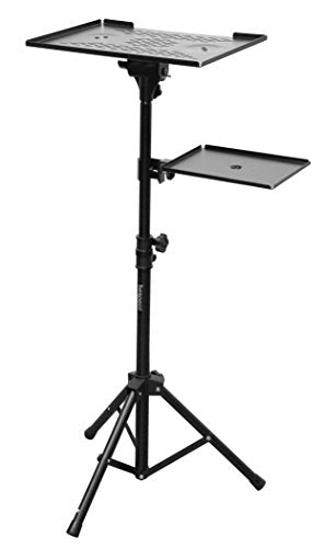 Bespeco LPS100 Professional Laptop Or Projector Stand With Side Shelf