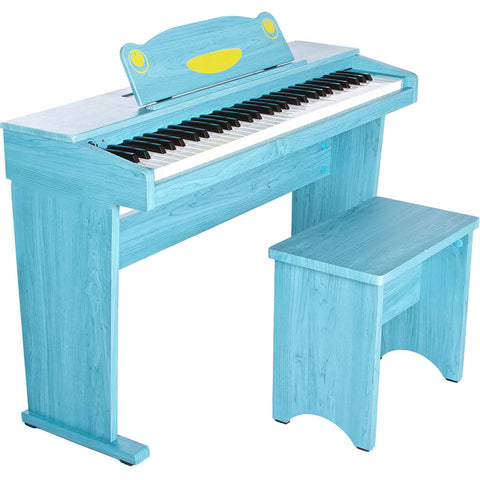 Artesia FUN-1 61-Key Children's Digital Piano Bundle (Blue)