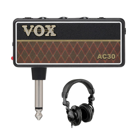 VOX amPlug G2 AC30 Headphone Guitar Amp with Polsen HPC-A30 Studio Monitor Headphones Bundle