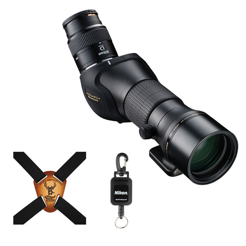 Nikon Monarch Fieldscope 0ED-A with MEP-16-48x Bundle with Binocular Harness & Rangefinder Tether