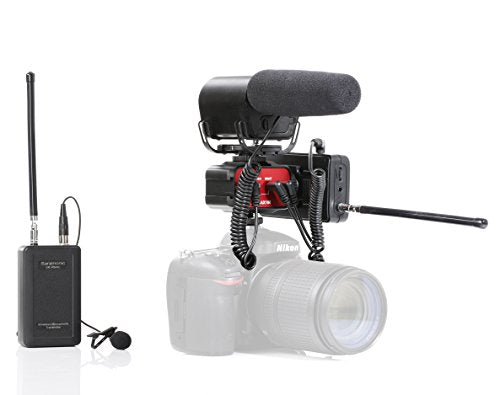Saramonic Video Recording Bundle with Shotgun Microphone, VHF Wireless Lav System, and 2-Channel Audio Mixer for DSLR Cameras & Camcorders