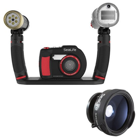 SeaLife DC2000 Camera Pro Duo Set with SeaLife SL970 0.65x Wide Angle Lens
